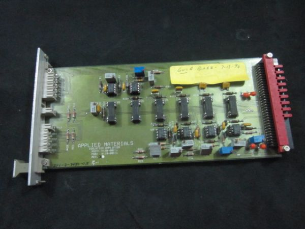 Applied Materials (AMAT) 0100-00156   w ISOLATION AMPLIFIER BOARD ASSEMBLY