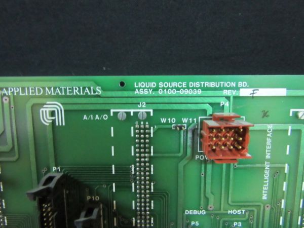 Applied Materials (AMAT) 0100-09039   PCB ASSYEMBLY, LIQUID SOURCE BACKPLATE