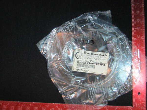 Applied Materials AMAT 0200-09743 WEST COAST QTZ 81-57030 RING, FOCUS QTZ 150MM