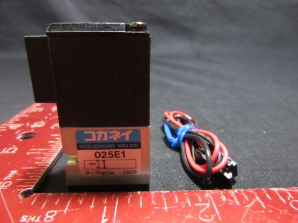 Koganei 025E1-11 SOLENOID VALVE 0~7kgf/cm²
