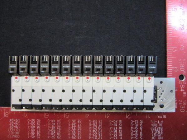 Koganei 040M-16A-STN1-16-A040-SE1-PLS DC24V AIR VALVE ASSEMBLY BLOCK OF 14
