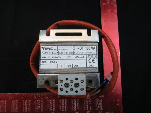 AXCELIS 1224960  VARAT TRANSFORMER SING PH 50/60 HZ PRI-0/180/205V SEC-0/5 4 V