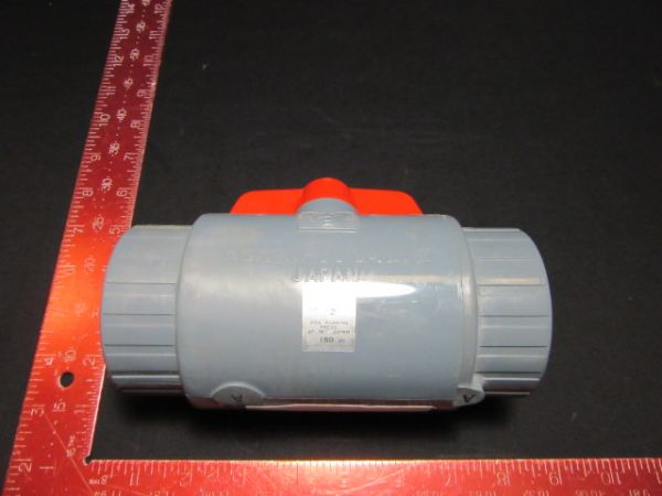 "ASAHI 161071020 PVC THREAD BALL VALVE, TEE, 2"" PIPE 50-2 TYPE-C MAX PRESS 70°F"
