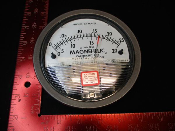 DWYER INSTRUMENTS 2000-00-AV GAUGE, MAGNEHELIC 0-.25IN.