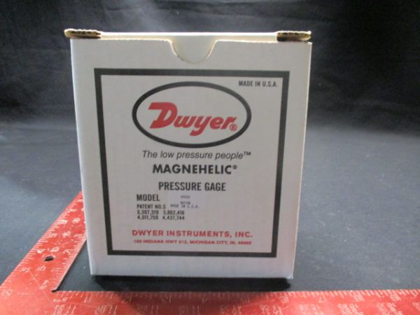 DWYER INSTRUMENTS 2002D MAGNEHELIC PRESSURE GAGE MAX PRESSURE 15 PSIG (100 kPa)