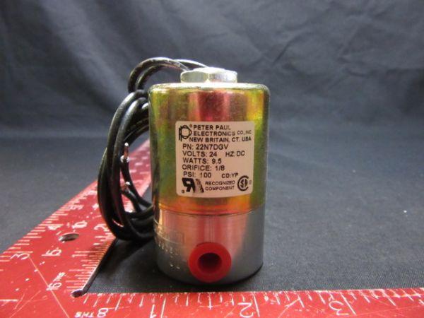 Peter Paul Electronics 22N7DGV SOLENOID VALVE 24V 100 PSI