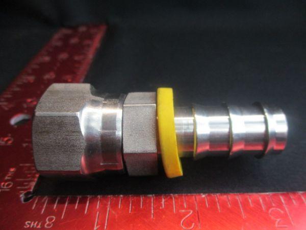 Applied Materials (AMAT) 3300-04451   FTG HOSE BARB 5/8 x 5/8-1-14 FEM SWVL