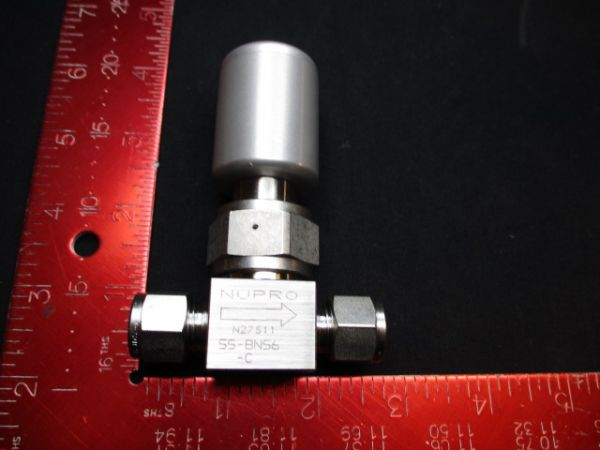 Applied Materials (AMAT) 3870-01639   VALVE PNEU BN BELLOWS N/C 3/8 SWAGELOCK