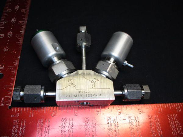 Applied Materials (AMAT) 3870-01986   VALVE BLOCK MONO PNEU DIAPH 1/4VCR-FFF N