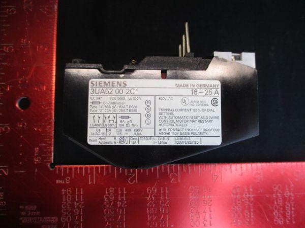 Siemens 3UA52-00-2C RELAY, OVERLOAD 16-25AMP