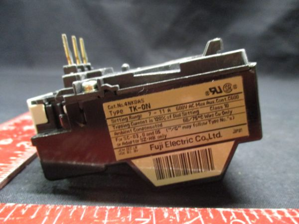 FUJI ELECTRIC 4NK0AS OVERLOAD RELAY TK-0N RANGE7-11 AMPS