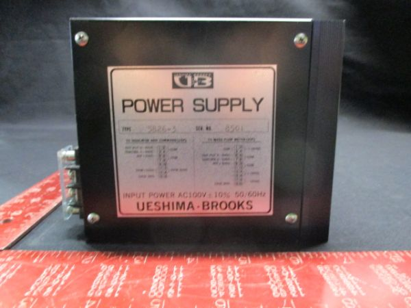 BROOKS INSTRUMENT 5826-3 POWER SUPPLY INPUT POWER AC100V +-10% 50/60Hz