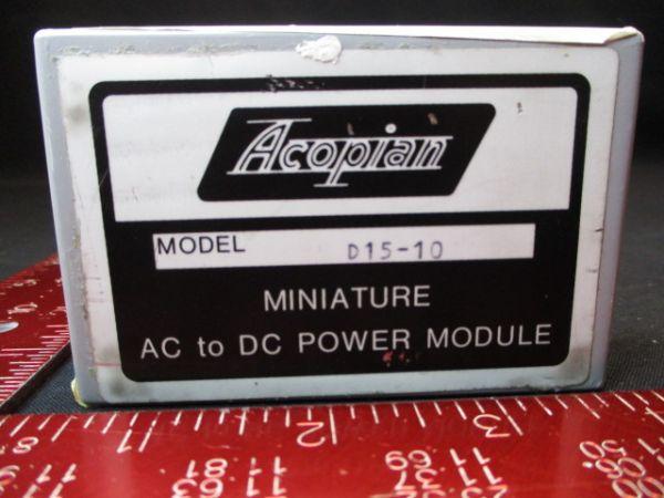Acopian D15-10 SUPPLY, POWER