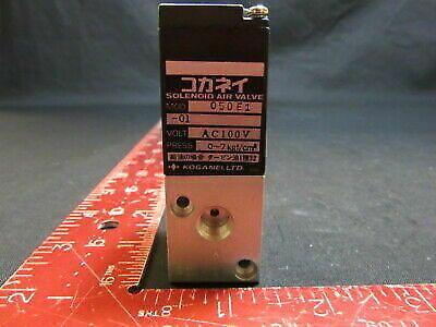 KOGANEI 050E1-01 SOLENOID AIR VALVE AC100V 0~7kgf/cm²