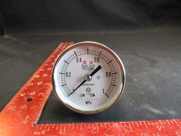 DAIICHI KEIKI SEISAKUSHO DU 1/4 60 PRESSURE GAUGE 0-1 MPa kgf/cm2