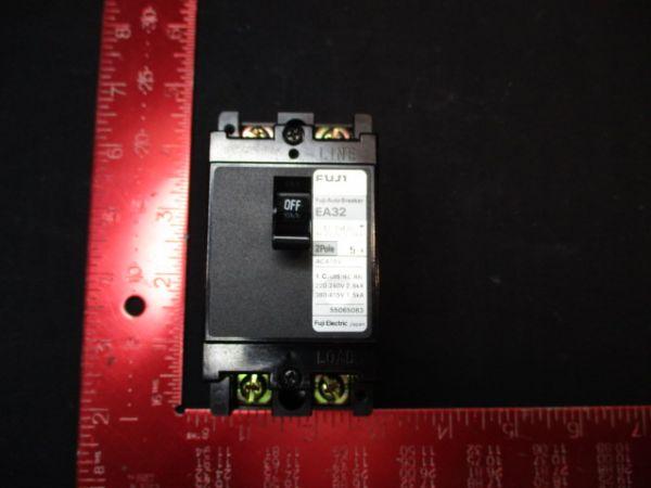 FUJI ELECTRIC EA32-2P-5A CIRCUIT, BREAKER 120-200V 15A