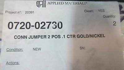 AMAT 0720-02730 CONNector JUMPER 2 POS .1 CTR GOLD/NICKEL