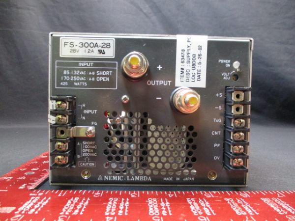 TDK-LAMBDA-PHYSIK-NEMIC FS-300A-28 SUPPLY, POWER