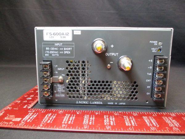 TDK-LAMBDA-PHYSIK-NEMIC FS-600A-12 SUPPLY, POWER