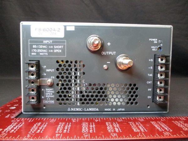 TDK-LAMBDA-PHYSIK-NEMIC FS-600A-2 SUPPLY, POWER