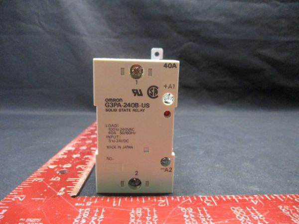 Omron G3PA-240B-US SOLID STATE RELAY 100 TO 240VAC 40A 50/60Hz