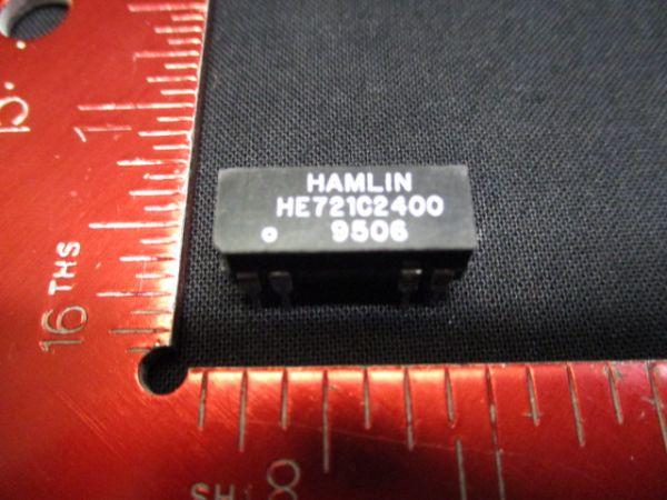 HAMLIN HE721C2400 REED RELAY, SPDT, 24VDC, 0.25A, THD