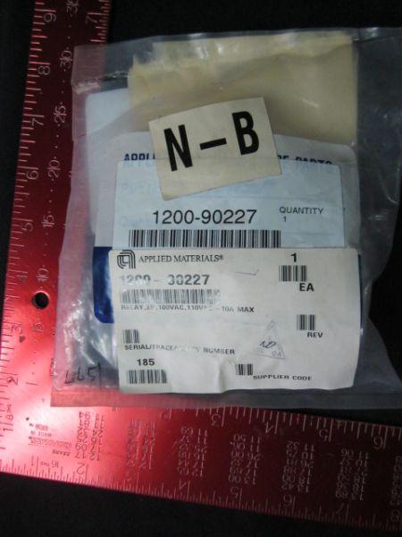 Applied Materials AMAT 1200-90227 Relay 2P100VAC 110VAC-10A Maximum