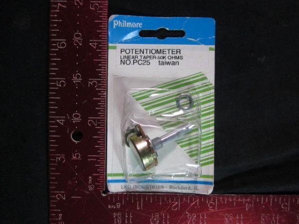 Philmore PC25 Potentiometer linear taper-50K ohms