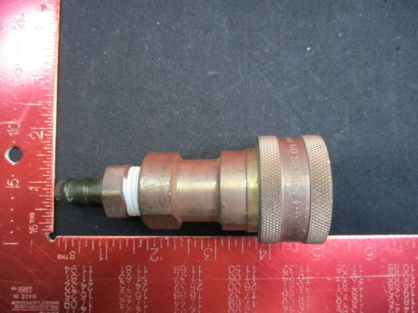 PARKER HANNIFIN CORP BH4-60 COUPLER BODY, 1/2-14, 1/2 IN. BRASS