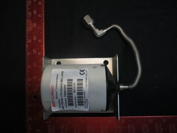 BOC EDWARDS K658A009 BAROCEL, PRESSURE SENSOR, 658 TRANS 1TR W/ANG BELLOWS