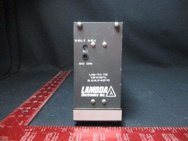 TDK-LAMBDA LIS-7I-15 REGULATED POWER SUPPLY MODULE 95-132 VAC