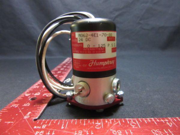 HUMPHREY M062-4E1-70-80 VALVE, 24DC 6.7W 0-125 P.S.I.