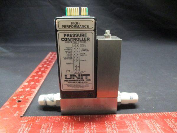 UNIT INSTRUMENTS UPC-1300 PRESSURE CONTROLLER RANGE: 50 SCCM GAS: HE