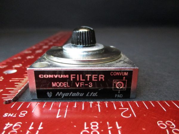CONVUM VF-3 FILTER, VACUUM