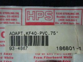 "HPS 93-4867 Adapter, KF40-PVC. 75\"""