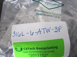 CAJON 316L-6-ATW-3P FITTING TUBE WELD UNION 3/8  316L-6-ATW-