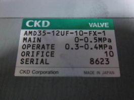 DNS 7-39-06470 CKD Teflon Valve; VALVE, AIR OPERATION, MAIN 0-0.5MPa, OPERATE 0.
