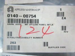 Applied Materials (AMAT) 0140-00754 Harness Assembly.,  MF UP/LOW Panel INTLK