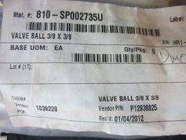 Whitey B-44S6-A Whitey B-44S6-A, Valve Ball 3/8 x 3/8