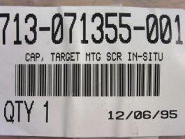 LAM RESEARCH (LAM) 713-071355-001 CAP TARGET MTG SCR