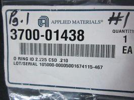 AMAT 3700-01438 O-Ring ID 2.225 CSD .210 NITRILE/BUNA N 70 DURO