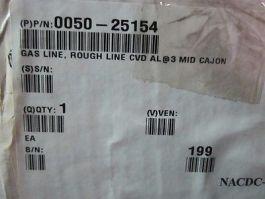 Applied Materials (AMAT) 0050-25154 Gas Line, Rough Line CVD AL@3 MID CAJON