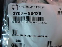 AMAT 3700-90425 O RING BS 148 69.52 ID X 2.62. ***6 PACK***