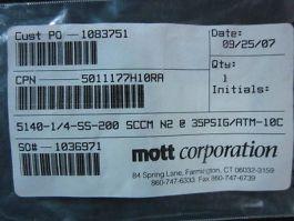 Applied Materials (AMAT) 3510-00041 ORF RSTR FLOW 200SCCM N2@35PSI 1/4VCR-M/M SS