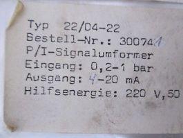 VDO MESS- UND REGELTECHNIK GMBH 22-04-22 TRANSDUCER VDO-4-20 MA.