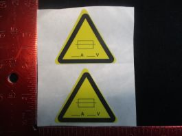 Applied Materials (AMAT) 3910-01116   LABEL CE WARNING FUSE (PACK OF 2)