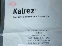 DUPONT NW100 Kalrez O-Ring Compound: 4079, Nom: 4.094 x 0.197in, Nom: 104.00 x 5