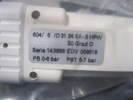 GEMU 604/6/D31245A-2HPW VALVE, PFA