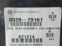 Applied Materials (AMAT) 0020-79161 SEAL