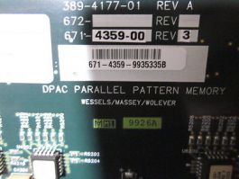 CREDENCE 671-4359-00 dpac parallel pattern memory, 16 MEG, DUO